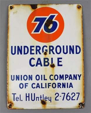 c1950 Union Oil of California 76 Underground Cable