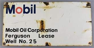 Mobil Oil Corporation Ferguson Sutter, CA Sign