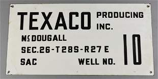 Vintage Texaco Producing Inc. Well Porcelain Sign