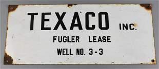 Vintage Texaco Fulger Lease Well Porcelain Sign