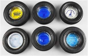 Misc Vintage Tire Advertising Ashtrays, All Goodyear
