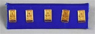 FULL SET 10K Gold Richfield Oil 5 - 25 Service Pins