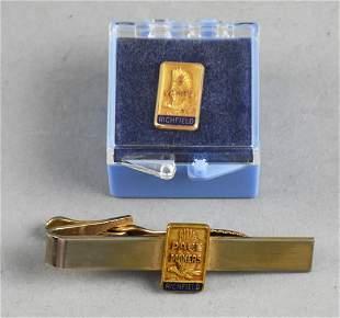 Vintage Richfield Oil 10k Anniversary Service Pin/Tie