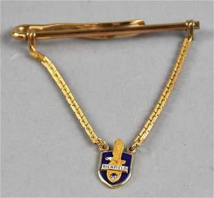 14K Richfield Oil Service Pin Tie Bar Sapphire