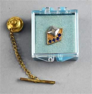 10K Gold Sapphire ARCO Service Award Pin