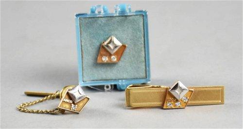 Diamond Cufflinks, Tie Pins & Tie Clips
