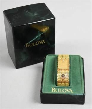Vintage ARCO Bulova Quartz Gold Watch Orig Box