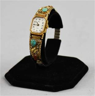 Native American Ladies Gold Fill Timex Watch