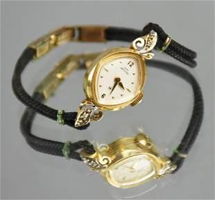 14K Gold Lady Hamilton Mechanical Watch