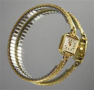 Vintage Girard Perregaux 14k Gold Ladies Watch