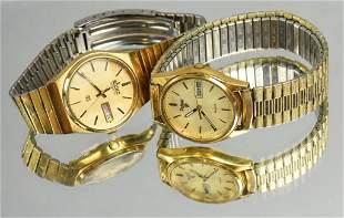 2 Men's Day Date Quartz Watches Seiko Pulsar