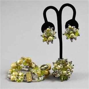 Vintage Vendome Costume Jewelry Set