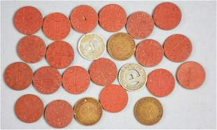 Vintage OPA Red Point Tokens and More