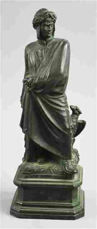 Vintage Cast Bronze Figure of Emperor Claudius