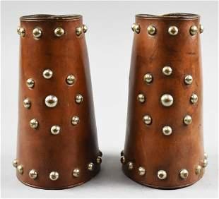 Antique Western Studded Leather Gauntlets