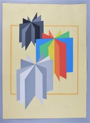 "Chester Solomont Ltd Ed Print, ""Color Wheel #3"""