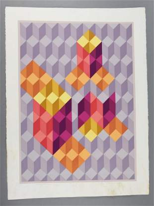 """Chester Solomont Ltd Ed 17/18 """"Cubic Extensions"""""""
