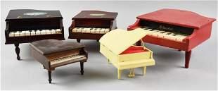 Vintage Toy & Music Box Piano Lot, Schoenhut, More