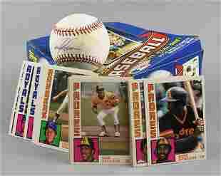 Garrett Anderson Signed Baseball Plus 1980s Baseball