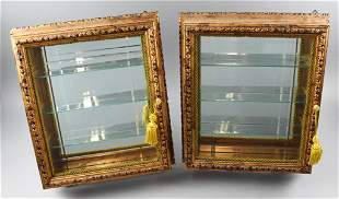 Vintage Picture Frame Wall Display Cabinets