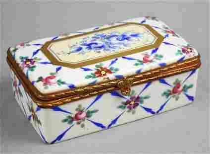 Antique Hand Painted Limoges Trinket/Jewel Box, Enamel