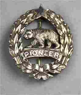 Antique California Pioneer Silver Pin