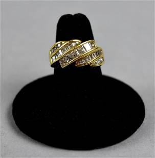 18K Yellow Gold Mixed Diamond Ring
