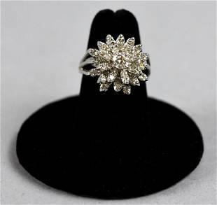 Beautiful 14K White Gold & Diamond Ring