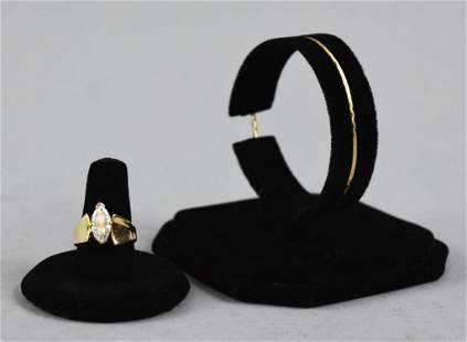 14k Gold Ring & 14k Gold Anklet