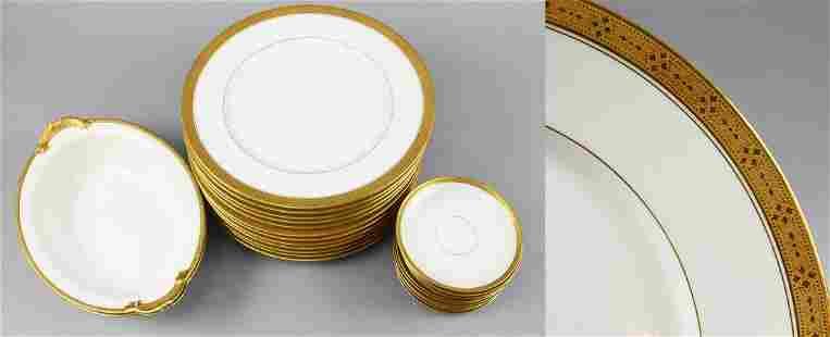 Antique Charles Ahrenfeldt Limgoes Gold Encrusted