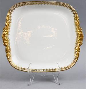 Jean Pouyat Limoges Gold Gilt Platter