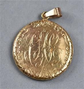 Victorian 14K Gold Locket Pendant
