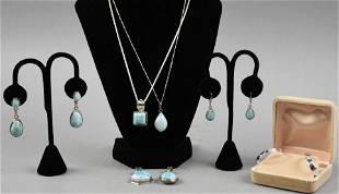 Vintage Sterling & Blue Larimar Jewelry Lot