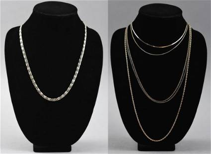 (5) Italy Sterling Chain Lot
