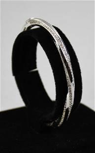 Swarovski Crystal Hinged Bangle Bracelet