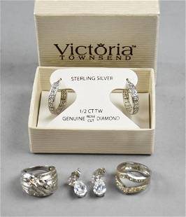 Victoria Townsend Sterling Diamond Earrings