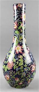 19th C. Etruria Cretona Tall Floral Vase