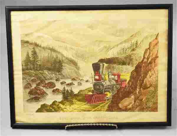 Currier & Ives The Route To California Litho