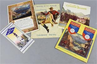 1930s Canadian Pacific Railways Brochures, Map