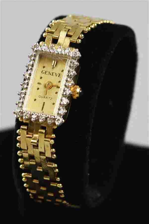 Solid 14K & Diamond Geneve Matina Wristwatch