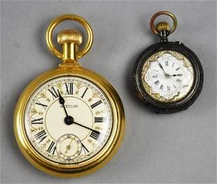 Vintage & Antique Pocket Watches, 800 Silver/Gold Tone