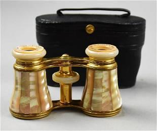 LeMaire Mother of Pearl Opera Binoculars, Original Case