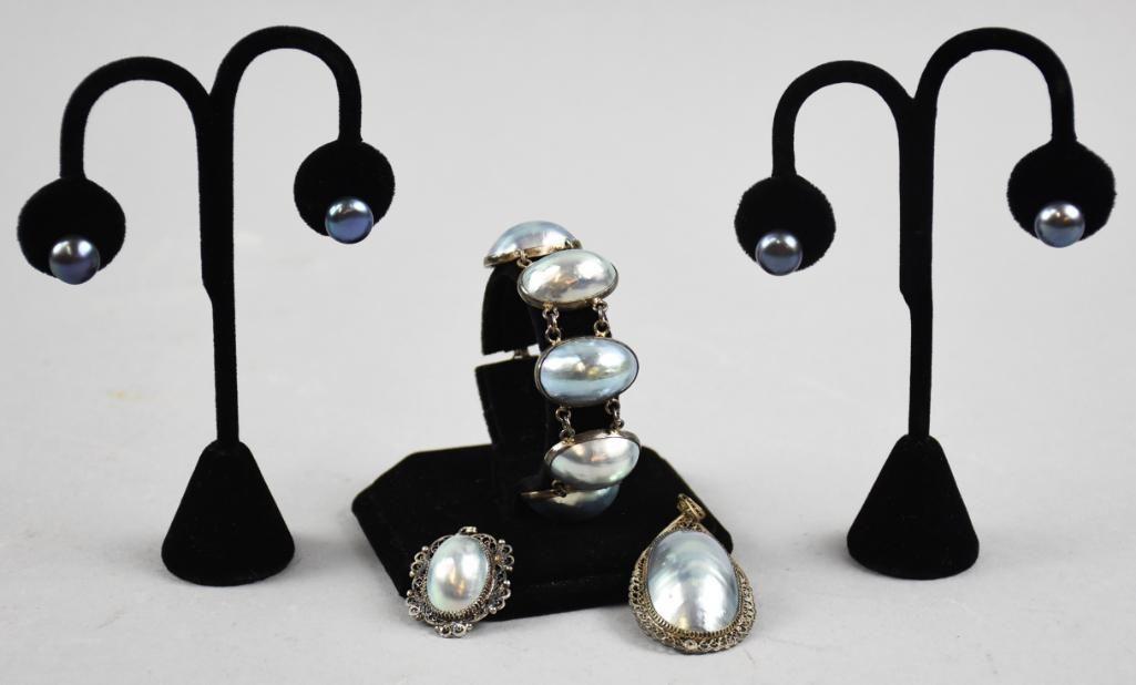 Vintage Costume Jewelry, MOP & Pearl