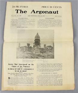 1906 The Argonaut, San Francisco Paper, Earthquake