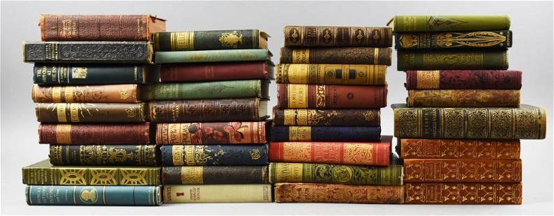 (36) Antique Compilation Books, Dickens, Dante & More