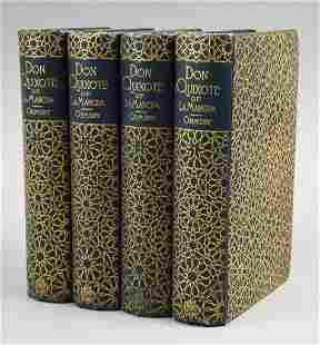 1887 Four Volume Set, Don Quixote, Miguel de Cervantes