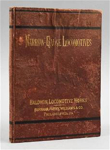 Rare 1877 Baldwin Locomotive Works, Narrow Gauge