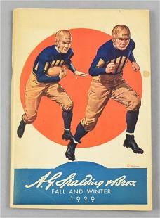 1929 A.G. Spalding & Bros Sporting Goods Catalog