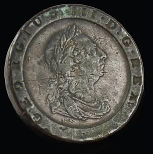 1797 Geogius III Britannia Two Pence Cartwheel
