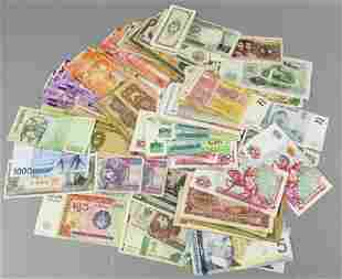Large Lot Foreign Currency, Canada, Korea & More